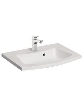 Bauhaus Stream 440mm 1 Tap Hole Basin With Overflow - ST0520SRW