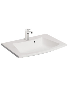 Bauhaus Stream 590mm 1 Tap Hole Basin With Overflow - ST0521SRW