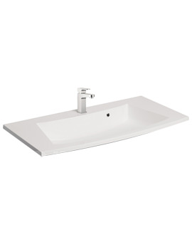 Bauhaus Stream 850mm 1 Tap Hole Basin With Overflow - ST0522SRW