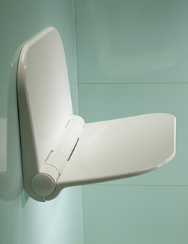 Roper Rhodes White Folding Seat for Wetroom