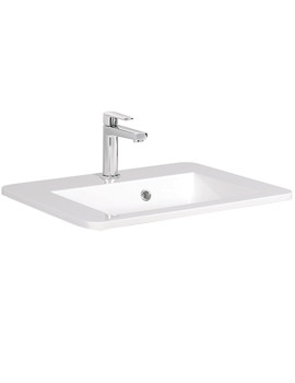 Bauhaus Solo 550mm 1 Tap Hole Basin With Overflow - SO0511SRW