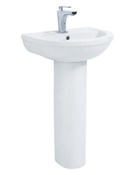 Emma Basin With Full Pedestal 500mm - EM038 - EM005