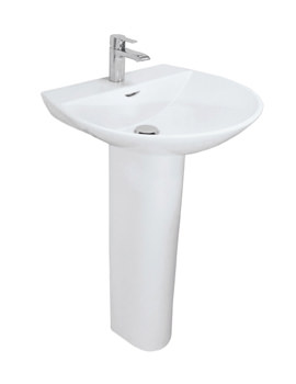 RAK Reserva 1 Tap Hole Basin With Full Pedestal 550mm - RES55BAS1