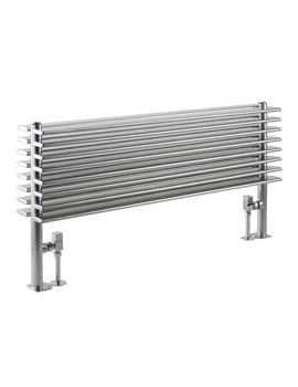 Fin Horizontal Double Panel Silver Radiator 1000 x 504mm