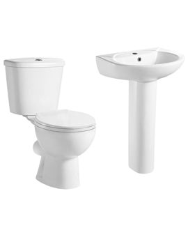 Lauren Brisbane Basin And Toilet Set - CBB001