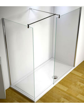 Ultimate 1700mm Left Hand Corner Walk-In Shower Enclosure