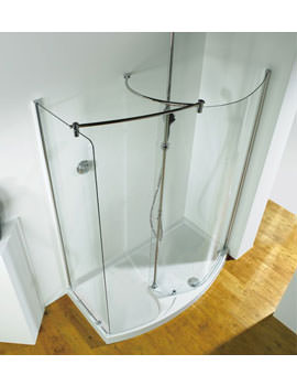 Ultimate 1400mm RH Curved Corner Walk-In Package With Shower Tower