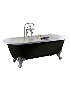 Baby Buckingham Cast Iron Roll Top Bath With Feet