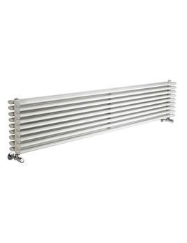 Lauren Cypress White Double Panel Horizontal Radiator 1800 x 315mm