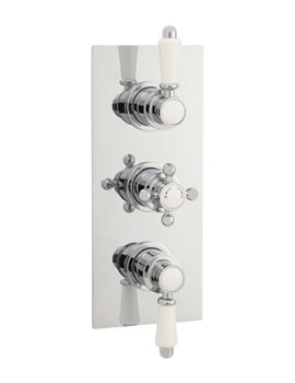 Related Lauren Traditional Triple Thermostatic Shower Valve - ITY315