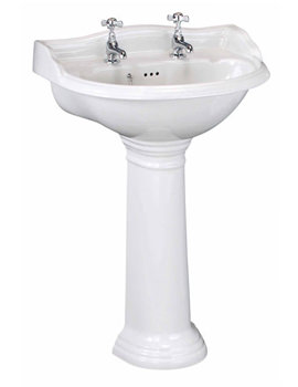 Related Lauren Ryther 600mm 2 Tap Hole Ceramic Basin And Pedestal