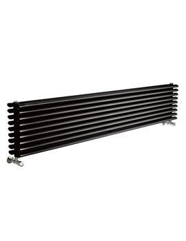 Lauren Cypress Black Double Panel Horizontal Radiator 1800 x 315mm