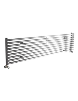 Lauren Cypress Horizontal Single Panel Silver Designer Radiator 1800 x 405mm