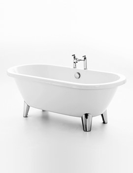 Blenheim 1750 x 800mm White Freestanding Bath With Feet