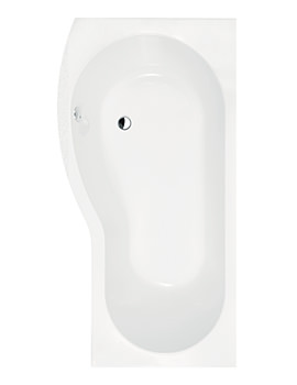 Lauren B-Shape Curved Shower Bath 1700 x 900mm Left Hand- BMP1785L