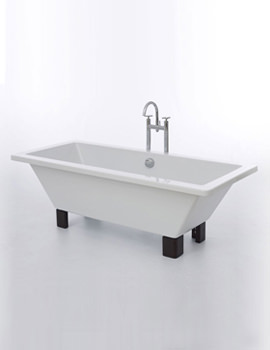 Clarence Bath 1785 x 785mm With Dark Oak Feet