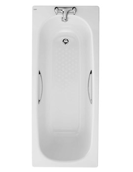 Twyford Celtic 1600 x 700mm Slip Resistant Steel Bath With Grips And Legs