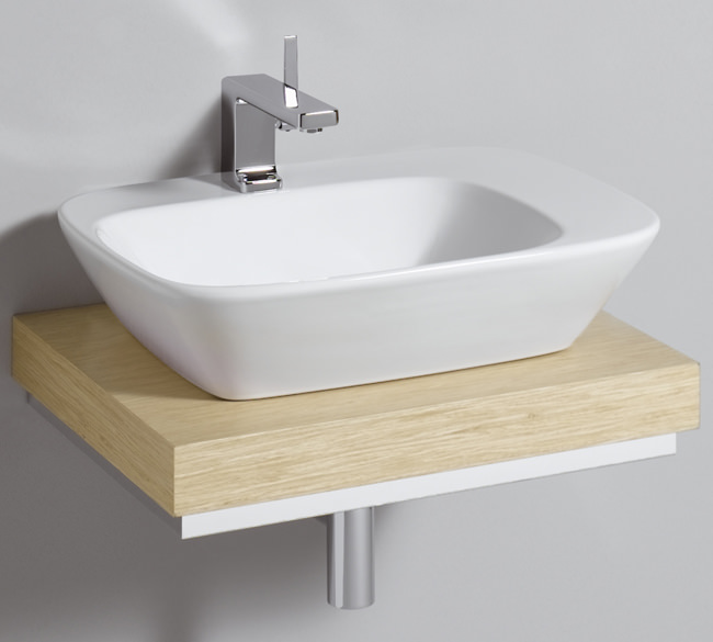 Countertop Shelf : ... of Twyford Vello Countertop 570mm Basin And 600mm Shelf - VO4441WH