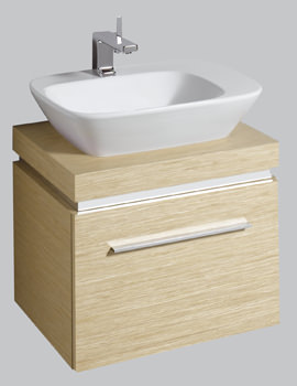 Twyford Vello Countertop 570mm Basin With 600mm Shelf And Vanity Unit
