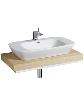Related Twyford Vello 800mm Countertop Basin And 1000mm Shelf - VO4741WH