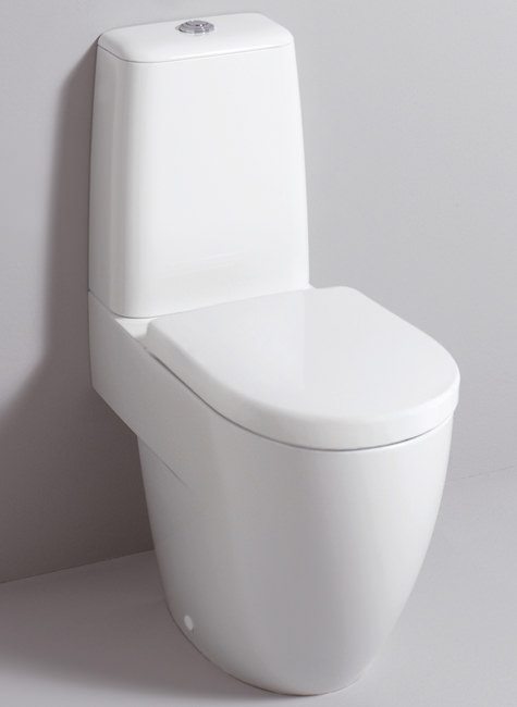 Large Image of Twyford 3D 680mm Close Coupled WC Suite With Standard Seat - 3D1468WH