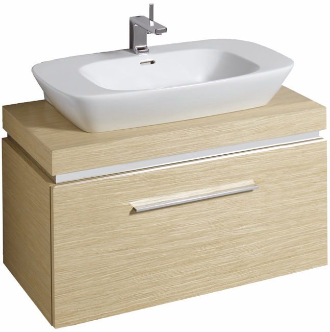 Countertop Unit : ... Twyford Vello 800mm Countertop Basin With 1000mm Shelf And Vanity Unit