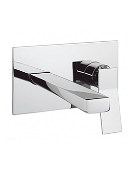 Related Crosswater Trio Wall Mounted Basin 2 Hole Set - TI121WNC