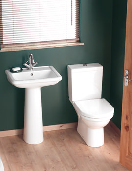 Balterley Mirage White Cloakroom Suite