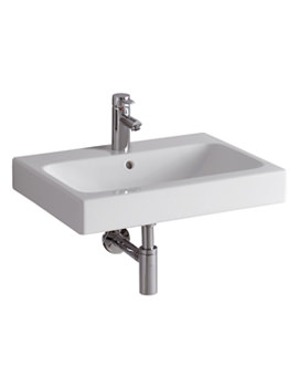 3D 600 x 485mm 1 Tap Hole Washbasin