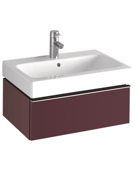 3D Washbasin And Plum Vanity Unit 1 Drawer 600mm