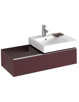 3D Right Hand 500mm Basin And 890mm Plum 1 Drawer Vanity Unit