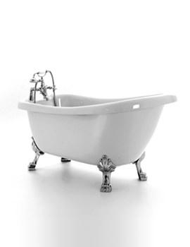 Crystal Slipper Bath 1680 x 720mm With Chrome Feet