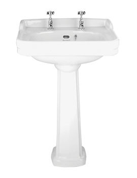 Balterley Ambience 600mm 2 Tap Hole Basin And Full Pedestal