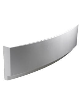 Twyford Indulgence Offset 1600mm White Front Bath Panel -ID7191WH