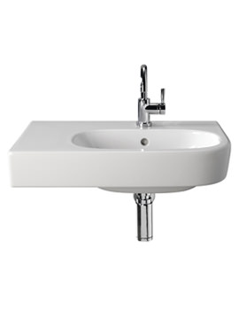 Twyford Quinta Washbasin With Shelf Space Left 800mm - QT4441WH