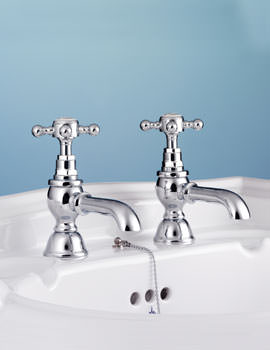 Victorian Pair Of Basin Pillar Tap - VCTBS2THCHR