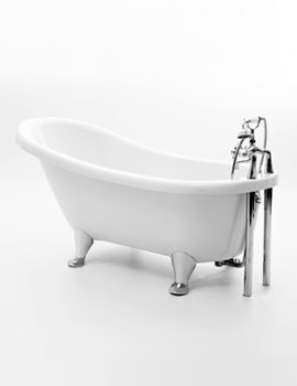 Oakley Slipper Bath 1600 x 720mm With Chrome Feet