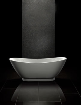 Black Quartz Double Ended Freestanding Bath 1760 x 680mm