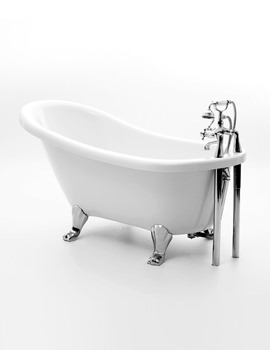 Eton Slipper Bath 1500 x 730mm With Chrome Feet