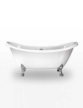 Melrose Double Ended Bath 1740 x 700mm With Chrome Feet