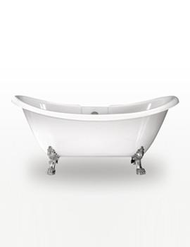 Royce Morgan Melrose Double Ended Bath 1740 x 700mm With Chrome Feet
