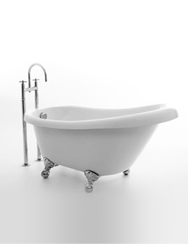 Tampa Slipper Bath 1500 x 750mm With Chrome Feet
