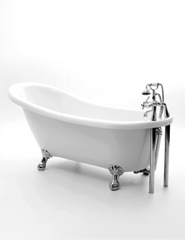 Hilton Slipper Bath 1715 x 730mm With Chrome Feet
