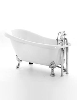 Chatsworth Slipper Bath 1530 x 710mm With Chrome Feet