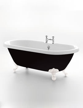 Royce Morgan Kensington Black Double Ended Bath 1755 x 785mm