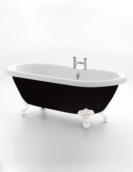 Kensington Black Double Ended Bath 1755 x 785mm