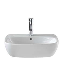 Image of Twyford Moda 1 Centre Tap Hole Washbasin 550 x 450mm - MD4231WH