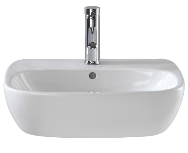 Large Image of Twyford Moda 1 Centre Tap Hole Washbasin 550 x 450mm - MD4231WH