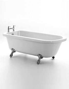 Lambeth Left Hand Corner Bath 1665 x 715mm With Chrome Feet