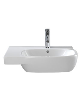 Image of Twyford Moda Washbasin With Left Hand Shelf Space 650 x 460mm